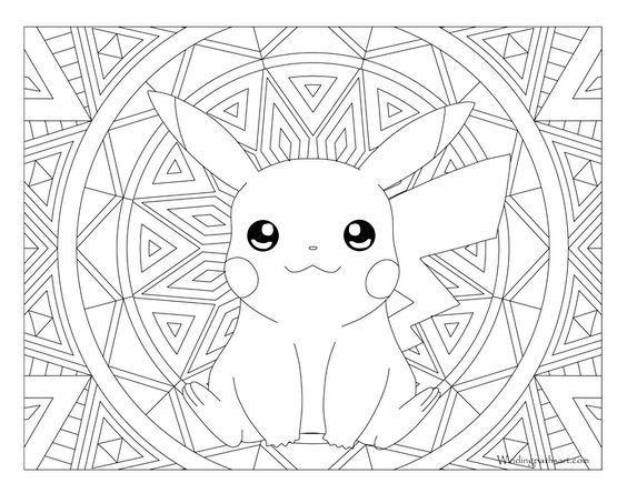 Pikachu Pokemon 025 Pikachu Coloring Page Pokemon Coloring Pages