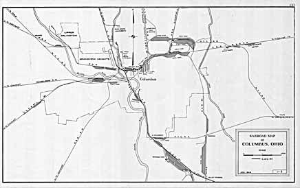 Columbus, Franklin County Ohio Maps 1948