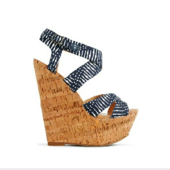❗ONE DAY SALE❗Navy blue wedges. Brand new Never worn, only taken out of the box to try on. Size 8.5. Shoes Wedges