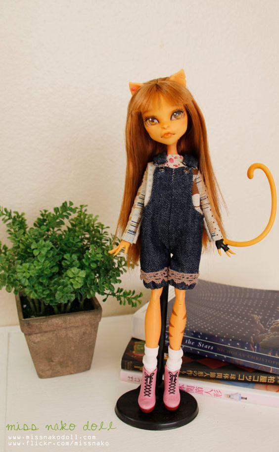 RESERVED Monster High Custom Toralei Stripes Doll by MissNakoDoll