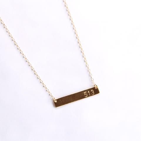 Hometown Pride Bar Necklace - 14k Gold Filled and Sterling Silver