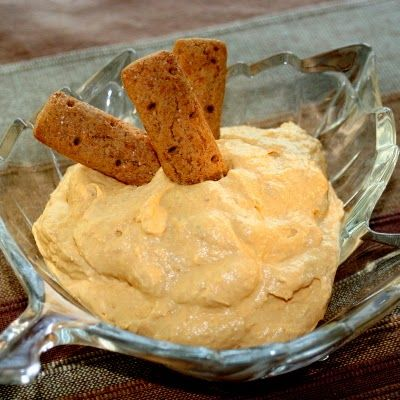 Easy pumpkin dip-tub of cool whip, can of pumpkin, box of vanilla pudding. Yum!: