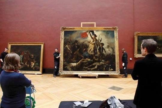 """La Libertad guiando al pueblo es un cuadro pintado por Eugène Delacroix en 1830 y conservado en el Museo del Louvre de París. """"He emprendido un tema moderno, una barricada, y si no he luchado por la patria, al menos pintaré para ella"""". Eugène Delacroix"""
