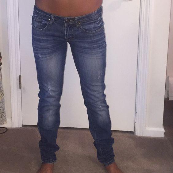 Machine denim size 27 Machine denim 97% cotton 3% elastine size 27 or size 3 both on label bever worn Machine Jeans Skinny