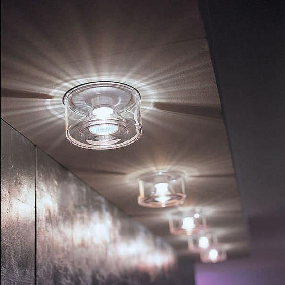 Moderne Deckenleuchte / rund / Glas / geblasenes Glas BLO – IC OTY