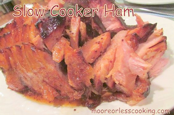 When your oven is being used baking cookies, this is a wonderful recipe for a tender moist ham. I made a 6.5 pound ham with this recipe. It was delicious!  In a slow cooker, cook ham for 6 hours …