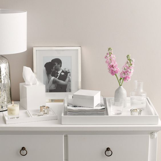 Buy Home Accessories > Kitchen Accessories > Nesting Laquer Trays from The White Company