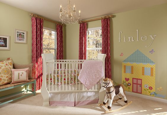 This nursery from @Lauren Nicole Designs is equal parts fun, elegant, traditional and just plain fab!