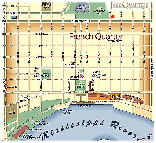french quarter map with attractions – Tourist Map Of New Orleans