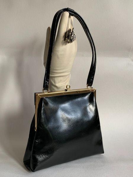 Jane Shilton Black Patent Leather 1960s