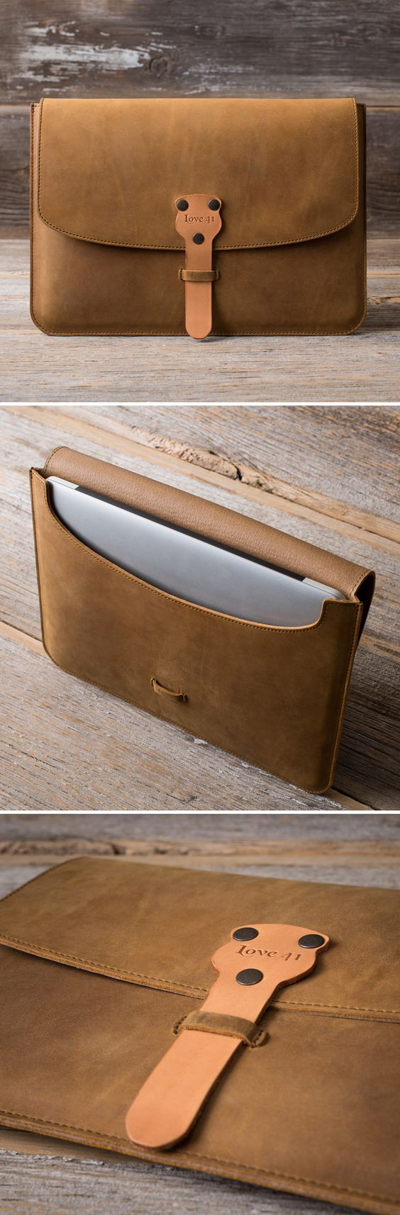 The new MacBook Case is made with full grain leather, features outward seams to help protect your laptop, and doubles as a document holder. Come have a closer look!