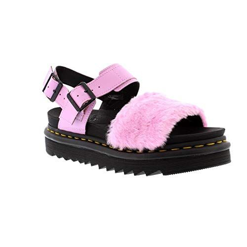 Dr.Martens Voss Fluffy Mallow Pink Hydro Leather Toby Women/'s Sandals Pink