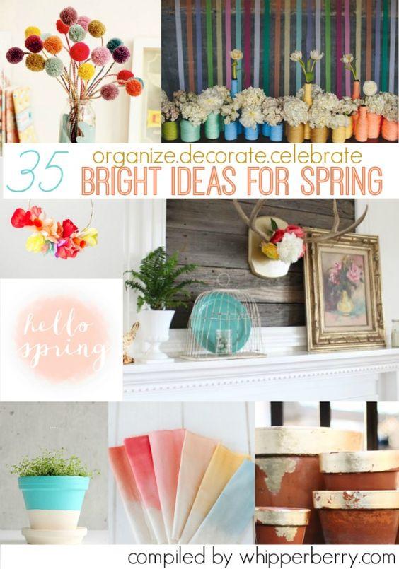 ideas for spring: Bright Ideas, Decor Ideas, Diy Crafts, Diy Spring, Fun Ideas, Craft Ideas