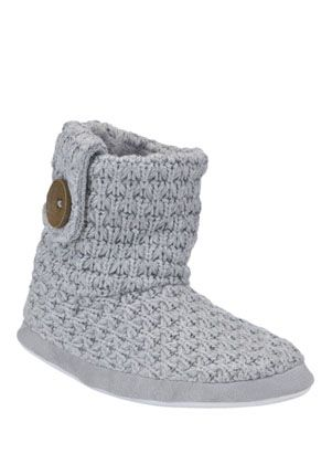 F&F Knitted Bootie Slippers