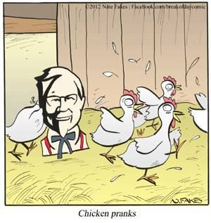 Chicken pranks.