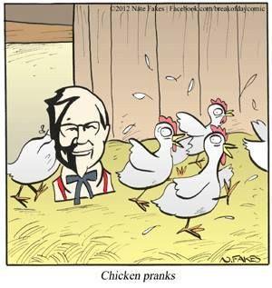 Chicken pranks.
