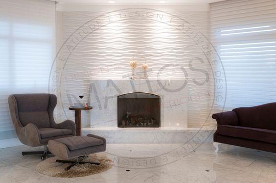 Projeto Mattos Design & Interiores Lareiras