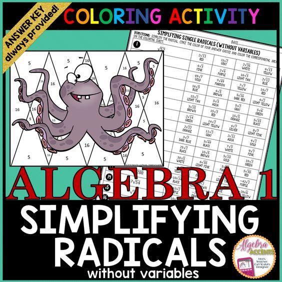 Simplifying Radicals Without Variables Worksheet - Worksheets