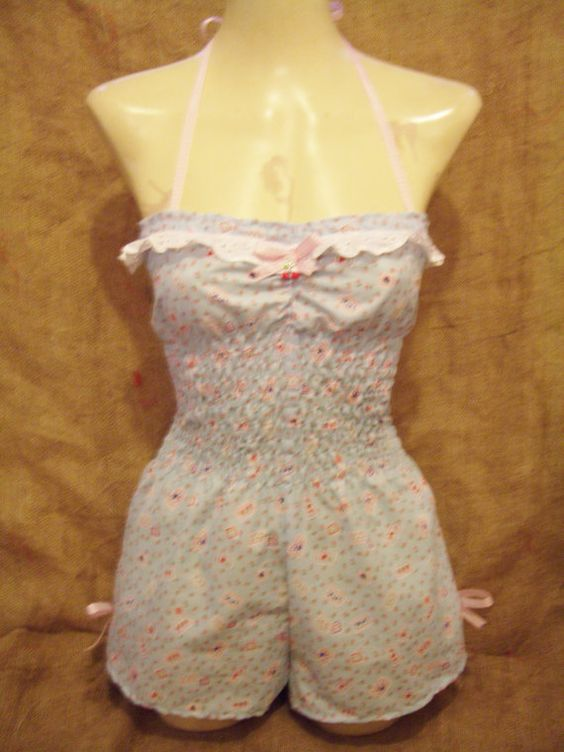 Cutebaby bluepatchwork floral cherry polka dot by EmmaJaneClothing