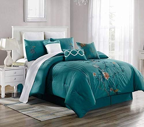 New Bed Collection 3pc Embroidery Duvet Comforter Bed Cover Set W Pillow Shams Color Brenda 10 Size Cal King Bed Cover Sets Duvet Comforters Bed Comforters