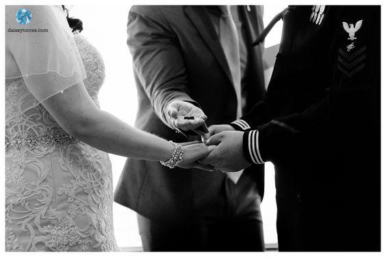 Vista Point Center Wedding | Nautical Wedding | Ceremony s | Ring Exchange | Norfolk Base Wedding | Daissy Torres Photography