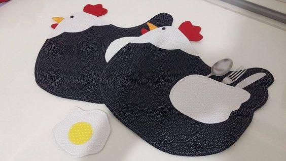 jogo americano de galinha em patchwork - Pesquisa Google