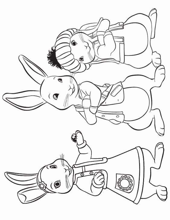 Peter Rabbit Coloring Page Lovely Lily Peter And Benjamin To Print Crafts Rabbit Colors Cartoon Coloring Pages Peter Rabbit