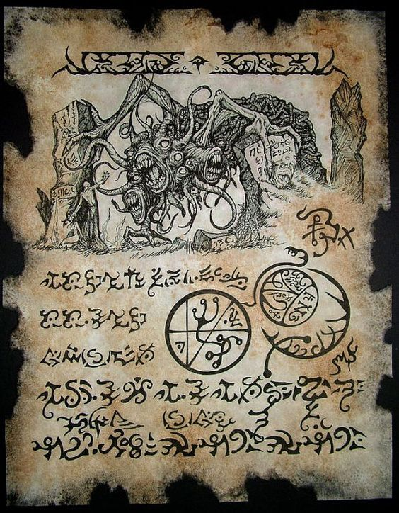 YOG SOTHOTH RITUAL cthulhu larp Necronomicon Fragment occult horror lovecraft monster