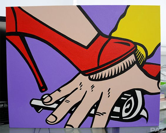 Pop Art Painting Hands Off Acrylic on Canvas by PopArtZombie