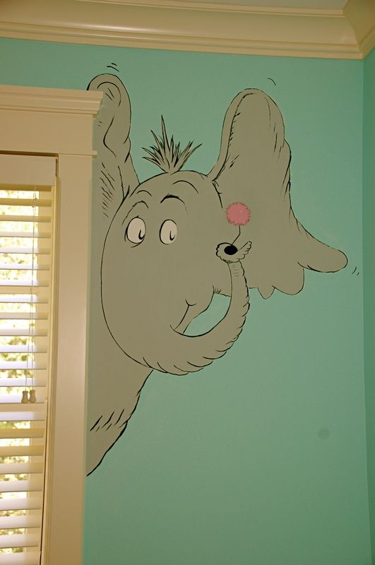 Dr seuss murals and playroom ideas on pinterest for Dr seuss wall mural