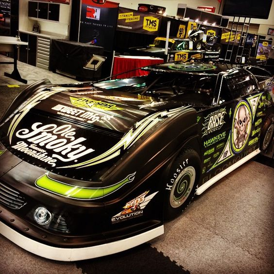 good looking scott bloomquist dirt late model in the fivestarbodies booth at pri2014 race. Black Bedroom Furniture Sets. Home Design Ideas