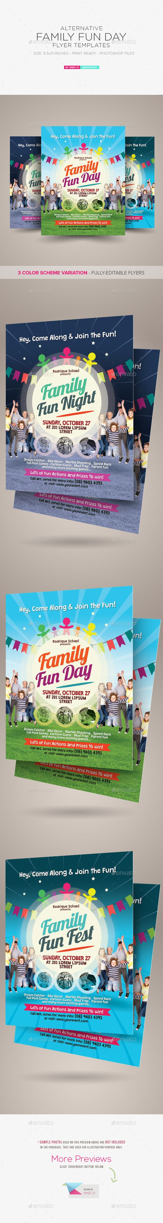 alternative family fun day flyers family fun day fun day and flyers. Black Bedroom Furniture Sets. Home Design Ideas