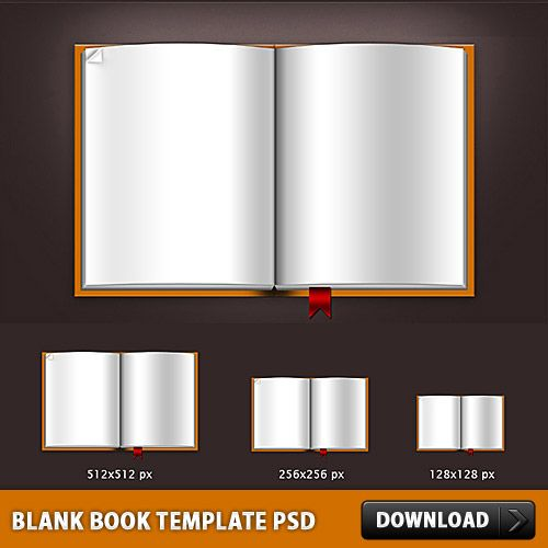Download Blank Book Template PSD File Kiddos Pinterest - blank card template