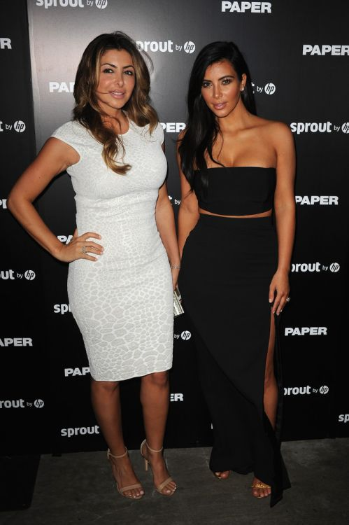 December 4, 2014-Kim Kardashian & Larsa Pippen at the Paper Magazine Break The Internet Release Party in Miami.