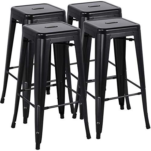 New Yaheetech 30 Inches Metal Bar Stools Set Of 4 High Backless Barstool Stackable Bar Counter Height Stoo In 2020 Metal Bar Stools Kitchen Bar Stools Metal Bar Stools