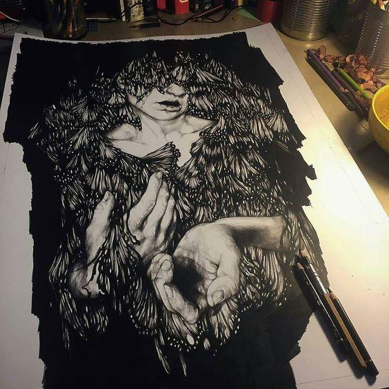 Progress pencil drawing by artist @marcomazzoniart #wip #worldofpencils http://ift.tt/1SbNpEl . by worldofpencils