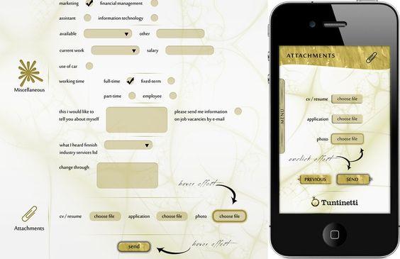 Simple job application form by J0KY Website Design Pinterest - simple application form