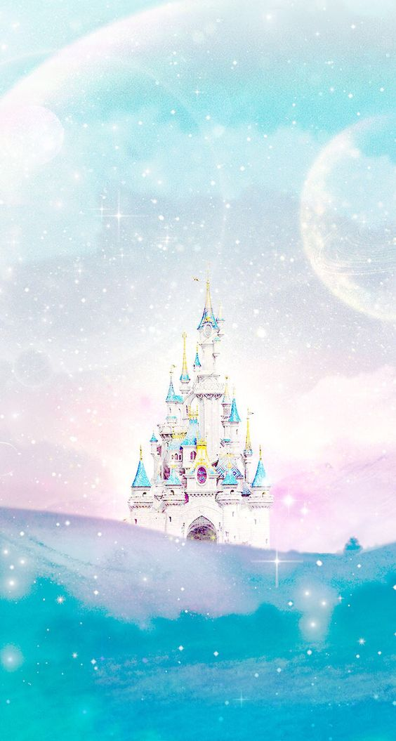Disney castle Line iphone wallpaper: