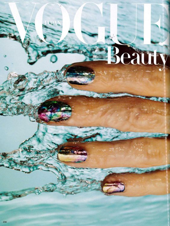 Adhesive nails on Vogue Japan's cover (nail art by Marian Newman)