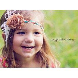 con trenza adornos pelo peinados marrn de del beb suave naranja trenza tricolor preciosa cinta pensada para