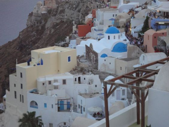 Santorini Greece. Took this pic at a restaurant :)