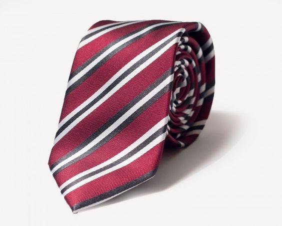 Trinity Tie in Crimson. Frank & Oak.