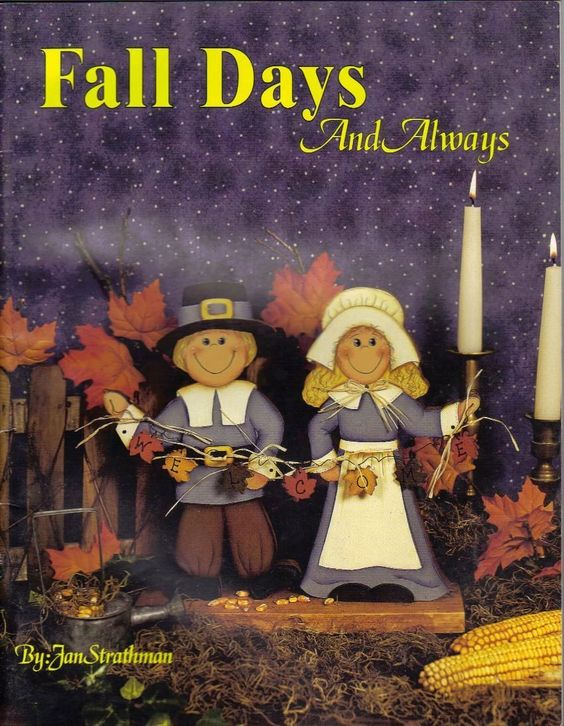 Fall Days and Always by Jan Strathman Tole Decorative Painting Pattern Book | eBay