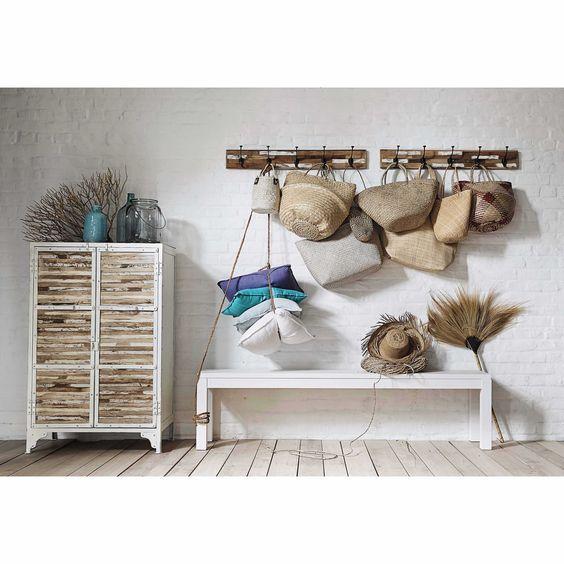 Pat Re Bois 5 Crochets Auray Maisons Du Monde Decor