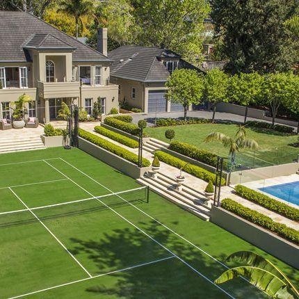 Upper North Shore Backyard Design Backyard Makeover Landscape Design Sydney Nsw Tennis Court Backyard Backyard Swimming Pool House