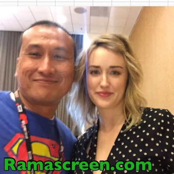 "Rockin' it with Ashley Johnson at Comic-Con press room for ""Blindspot"""