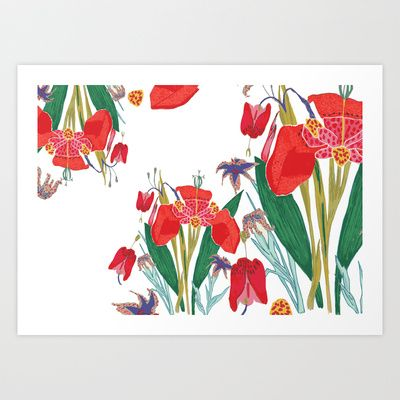 Floral Art Print by Tessa de Guytenaer - $19.50