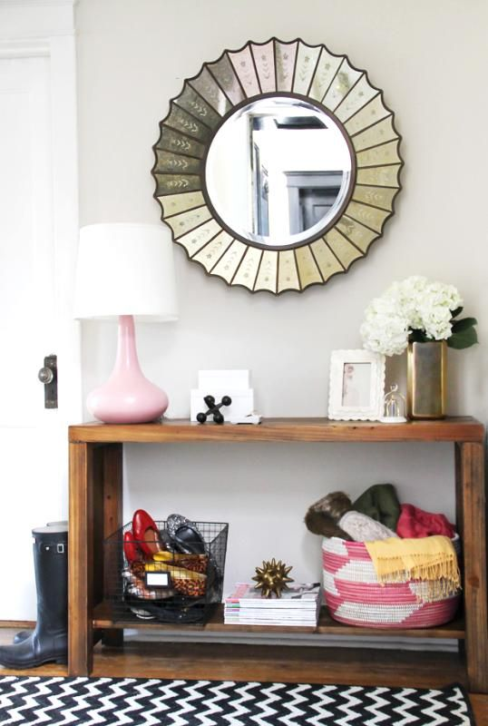 Could totally DIY this table. For kitchen table area? Or living room?