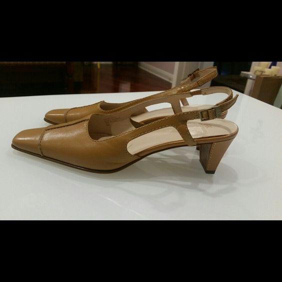 Anne Klein beige small heel shoes Adorable Anne Klein heels; great for work; never worn Anne Klein Shoes