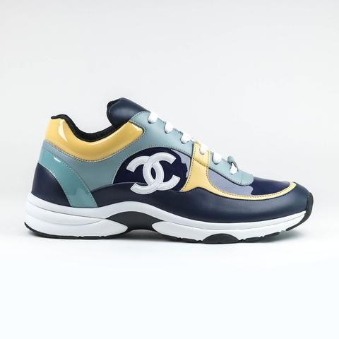 Teal Yellow Sneaker | Yellow sneakers